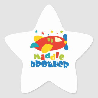 Middle Brother Plan Stars Star Sticker