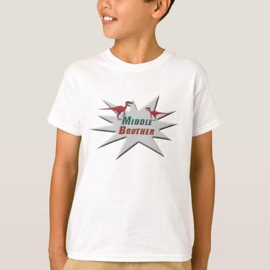 Middle Brother Velociraptor Design T-Shirt