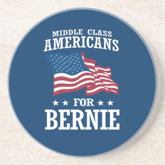 MIDDLE CLASS AMERICANS FOR BERNIE SANDERS DRINK COASTER