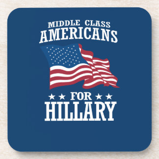 MIDDLE CLASS AMERICANS FOR HILLARY BEVERAGE COASTER