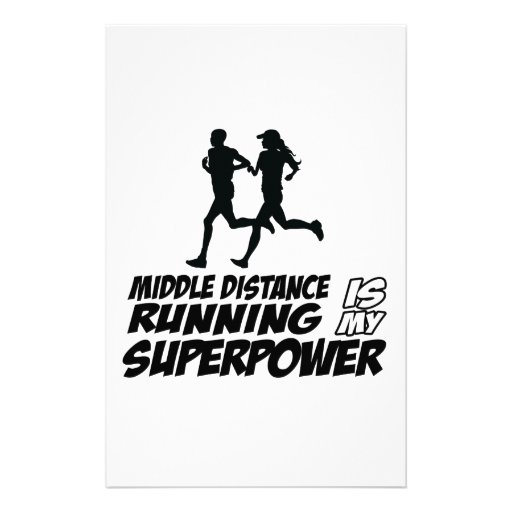 Middle distance running stationery paper