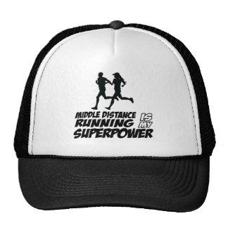 Middle distance running trucker hat