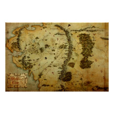 Middle Earth™ Map #3 Poster at Zazzle