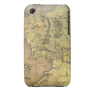 Middle Earth Map iPhone 3 Case