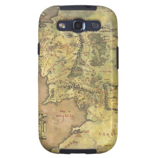 Middle Earth Map Galaxy SIII Covers