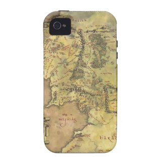 Middle Earth Map iPhone 4 Cases