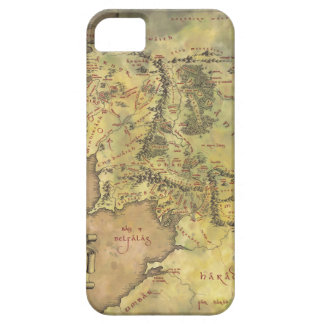 Middle Earth Map iPhone 5 Cases