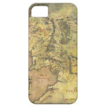 Middle Earth Map iPhone 5 Covers