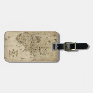 Middle Earth Map Tag For Bags