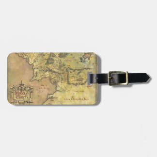 Middle Earth Map Luggage Tags