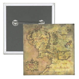 Middle Earth Map Pinback Button