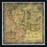 "Middle Earth Map Poster<br><div class=""desc"">Lord of the Rings: Fellowship of the Ring</div>"