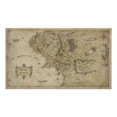 MIDDLE EARTH™ POSTER at Zazzle
