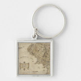 MIDDLE EARTH™ Silver-Colored SQUARE KEYCHAIN
