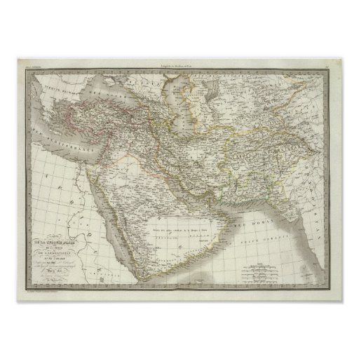 Middle East Atlas Map 2 Posters