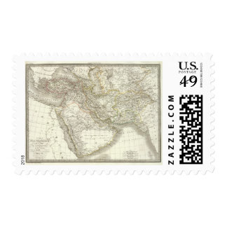 Middle East Atlas Map 2 Stamp