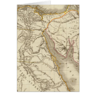 Middle East atlas map Card