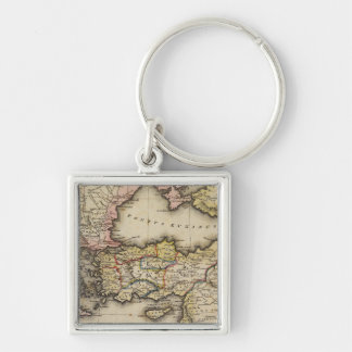 Middle East Atlas Map Keychains