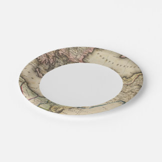 Middle East Atlas Map Paper Plate