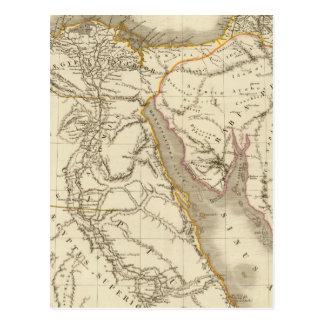 Middle East atlas map Postcard