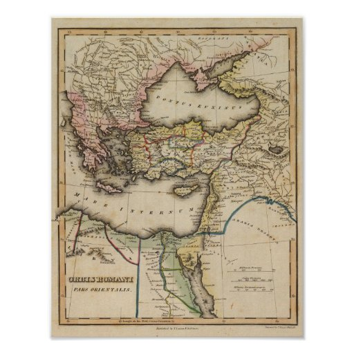 Middle East Atlas Map Posters