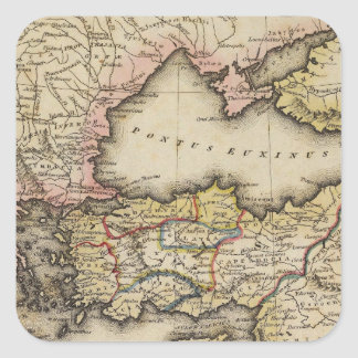 Middle East Atlas Map Square Sticker