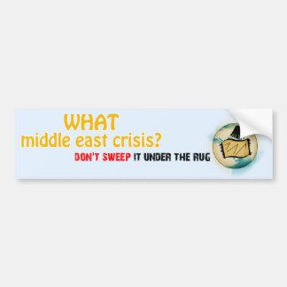 Middle East Crisis Car Bumper Sticker