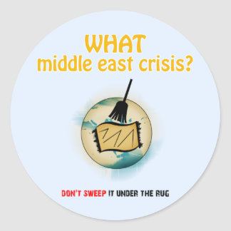 Middle East Crisis Classic Round Sticker