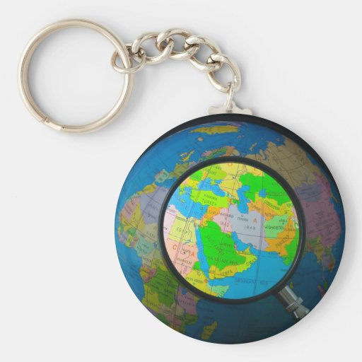Middle East in focus Key Chain
