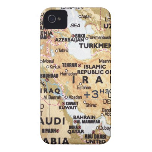 Middle East Map Blackberry Bold Case