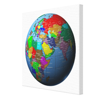 Middle East on Globe Canvas Print
