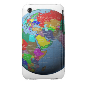 Middle East on Globe Case-Mate iPhone 3 Case