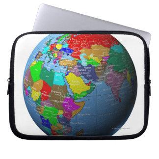 Middle East on Globe Computer Sleeve