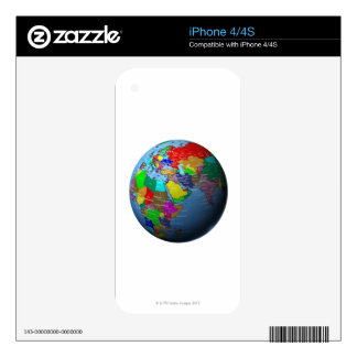 Middle East on Globe Decal For iPhone 4