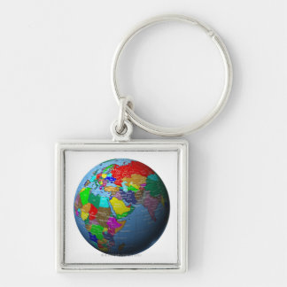 Middle East on Globe Keychain