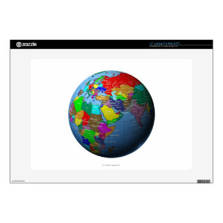 Middle East on Globe Laptop Decal