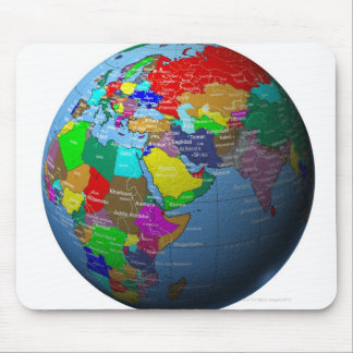Middle East on Globe Mouse Pad