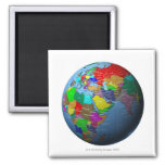 Middle East on Globe Refrigerator Magnet