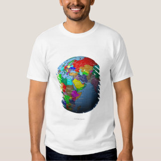 Middle East on Globe Tee Shirt