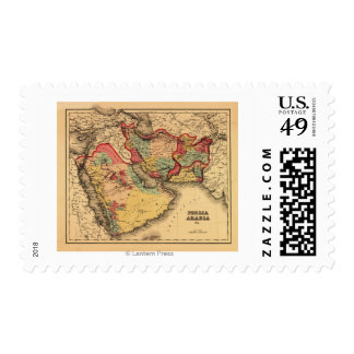 """Middle East """"Persia Arabia""""Panoramic Map Postage Stamps"""