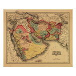 "Middle East ""Persia Arabia""Panoramic Map Poster"