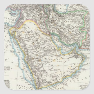 Middle East South Asia Square Sticker
