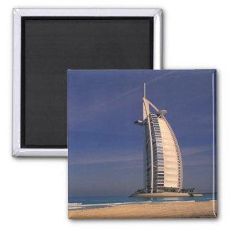 Middle East, United Arab Emirates, Dubai, Burj 2 Inch Square Magnet
