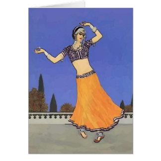 Middle Eastern Dancer Card