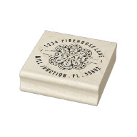 Middle Eastern Flower Return Address Stamp
