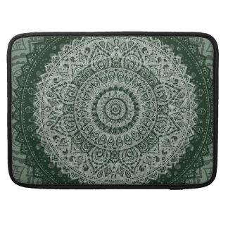 Middle eastern green hippy pattern Macbook sleeve