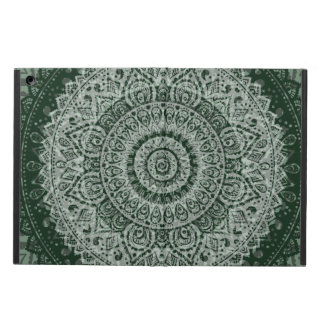 Middle Eastern Green Pattern iPad Air Covers