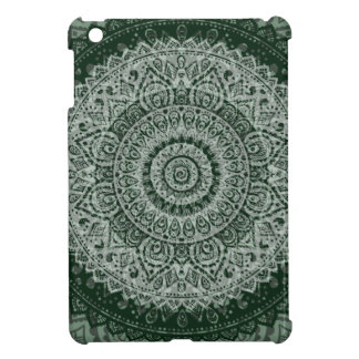 Middle Eastern Green Pattern iPad Mini Cover