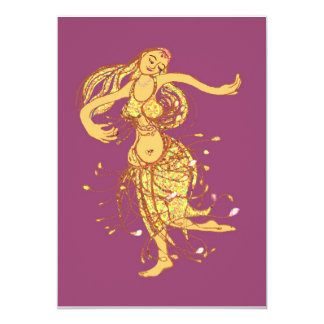 Middle eastern party - belly dancer 5x7 paper invitation card