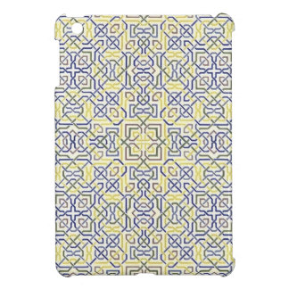 Middle Eastern Tile Pattern in Blue and Yellow iPad Mini Cases